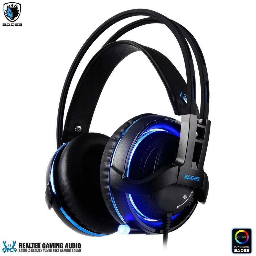 SADES Diablo Gaming Headset with Realtek Gaming Audio system & SADES RGB Light (USB port)