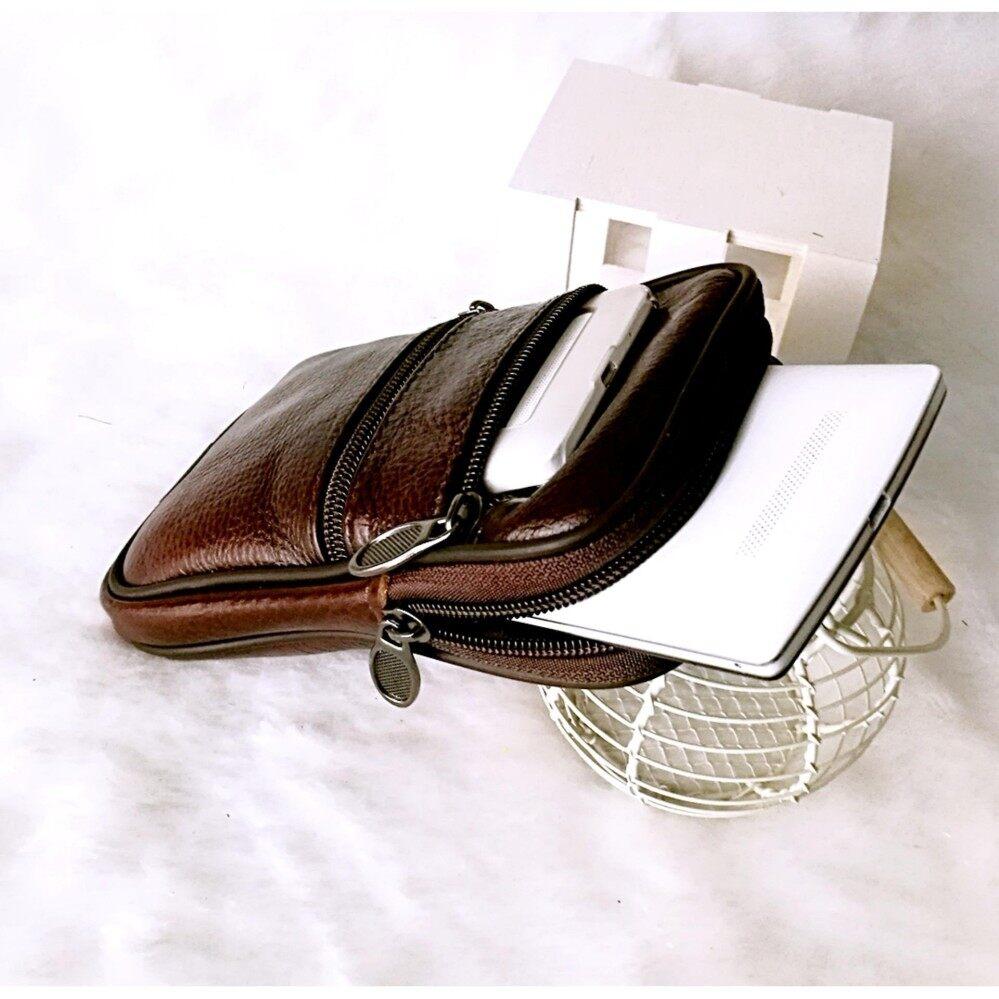 ราคา Leather Inc กระเป๋า ใส่มือถือแบบคาดเข็มขัดได้ หนังแท้ รุ่น Mb011 2 สีน้ำตาล กรุงเทพมหานคร