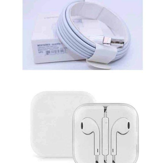 Apple Lightning To Usb Cable 2M หูฟัง Earpods Set พร้อมรีโมทและไมโครโฟน For Iphone6 6S Iphone6 Plus 6S Plus Iphone5S Earphone Iphone 6S Plus Iiphone5 ใหม่ล่าสุด