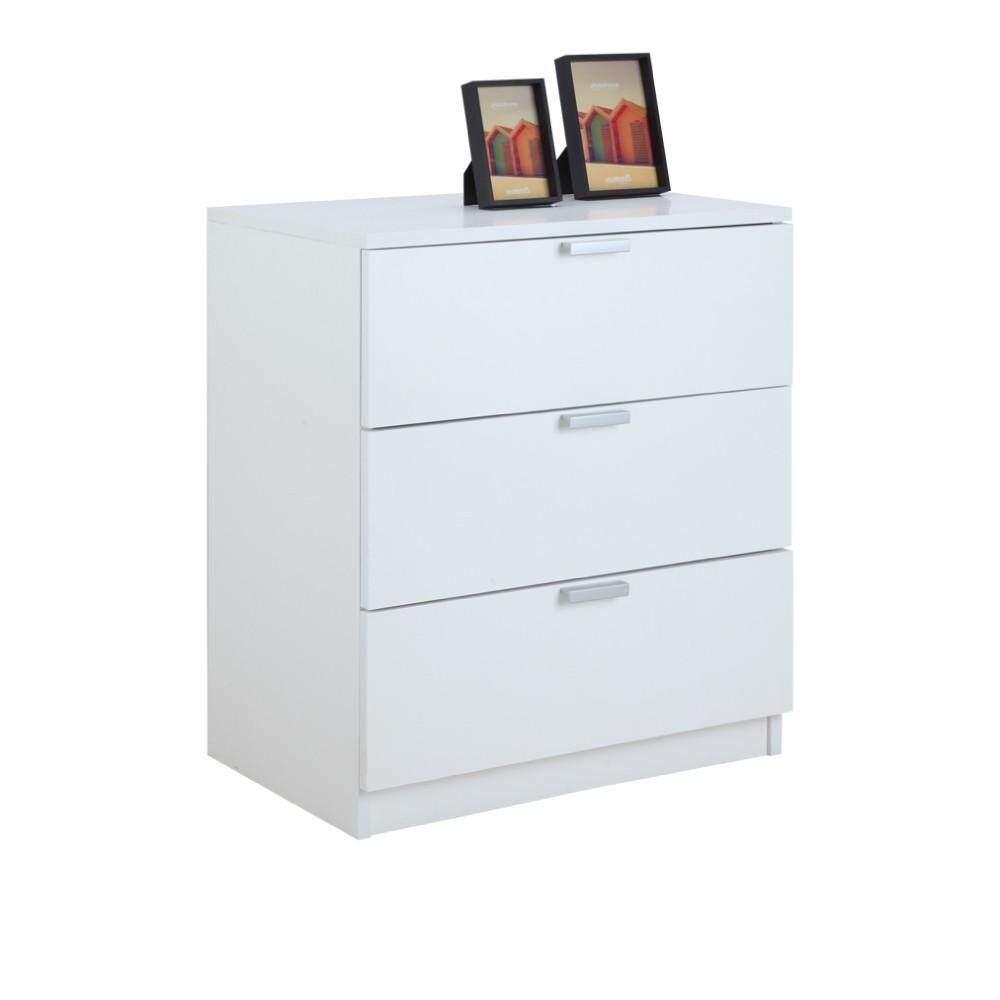 Winner Furniture ตู้ทรงเตี้ย 3 ลิ้นชัก รุ่น แม็กซ์ - สีขาว By Index Living Mall Official Store.