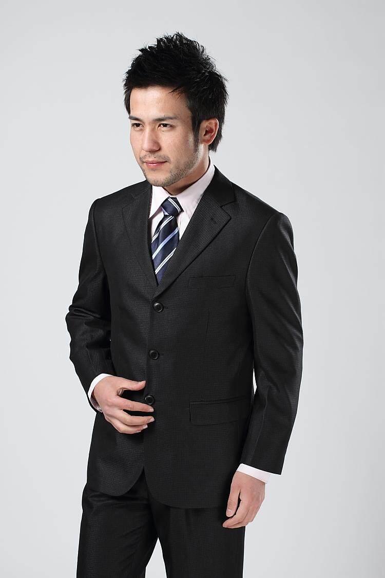 Pg-เสื้อสูททางการเสื้อสูทสุขภาพ 3กระดุม-สีดำ By Pg T-Shirt.