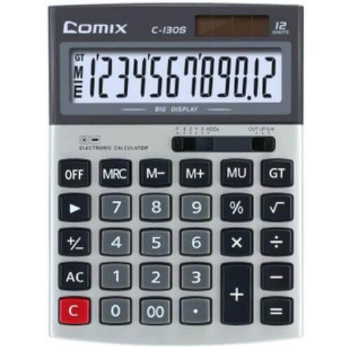 สุดยอดสินค้า!! เครื่องคิดเลข หน้าจอ12หลัก รุ่น Comix ใส่ถ่านได้ จัดส่งด่วน Kerry Express