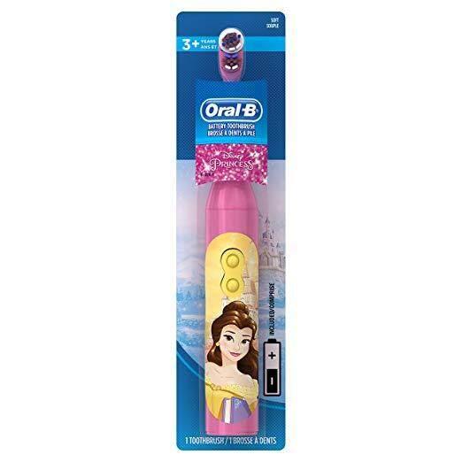 แปรงสีฟันไฟฟ้า รอยยิ้มขาวสดใสใน 1 สัปดาห์ มุกดาหาร แปรงสีฟันไฟฟ้า สำหรับเด็กอายุ3  Disney s Disney Princess Characters Oral B Kids Electric Battery Powered Toothbrush   2 AAA batteries