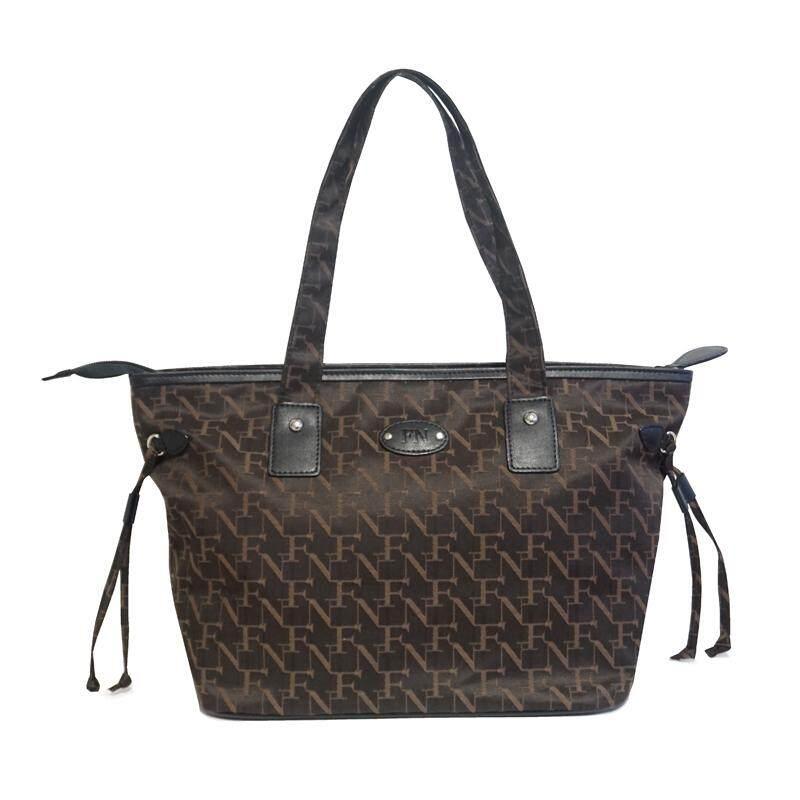 กระเป๋าเป้ นักเรียน ผู้หญิง วัยรุ่น เพชรบูรณ์ FN BAG กระเป๋า Tote Bag 1208 21001 011 Col Black