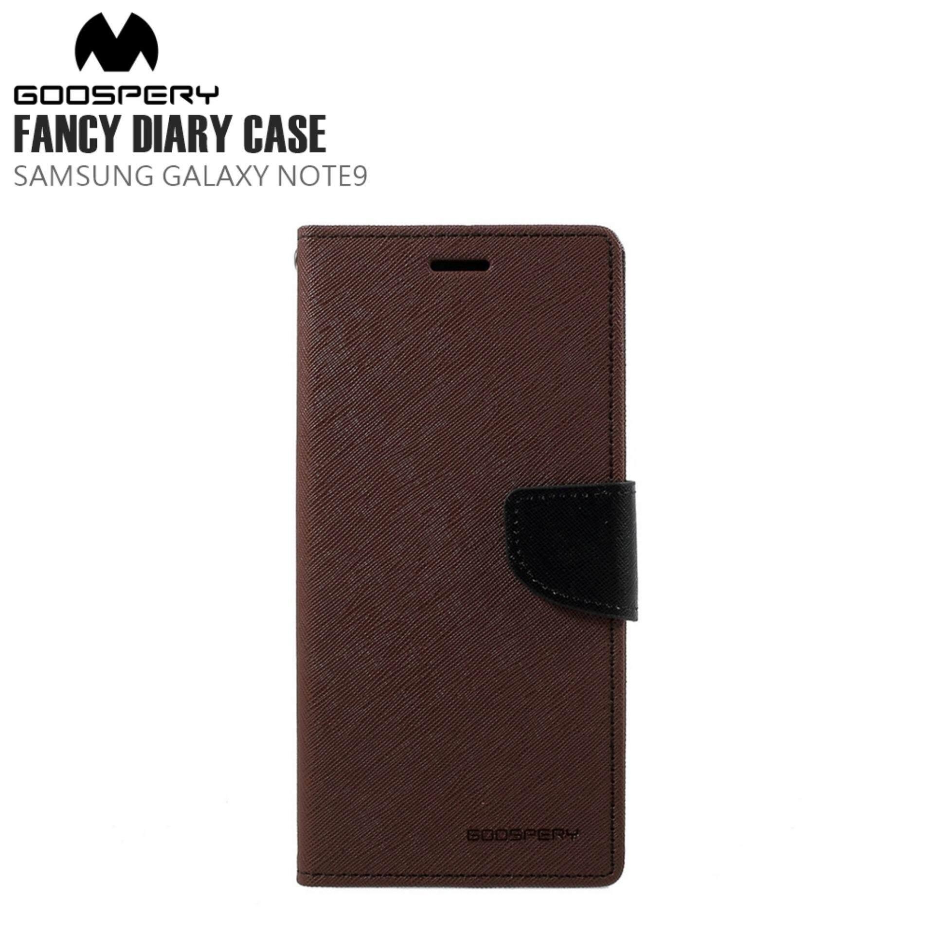 Mercury Goospery Phone Cases Samsung Galaxy Note 9 N960 Fancy Diary Case Mint Navy Goodspery Note9 Brown