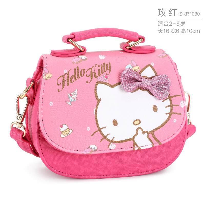 Hello Kitty Girls กระเป๋า Mini Crossbody น่ารัก.