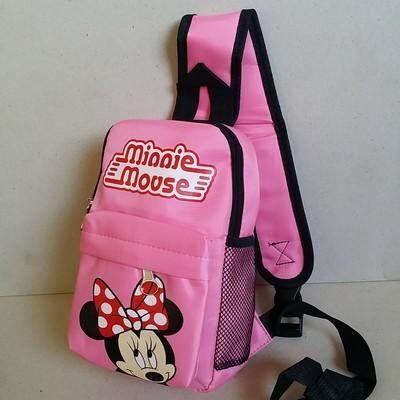 ส่งฟรี kerry!!! ขาย เป้คาดอก เป้เฉียง เป้สะพายเฉียง Sholder bag Minnie mouse มินนี่เม้าส์