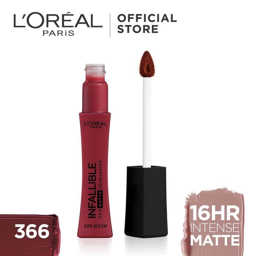 Loreal Paris Infallible Pro Matte Liquid Lipstick ลอรีอัล ปารีส อินฟอลลิเบิล โปร แมท ลิควิด ลิปสติก.