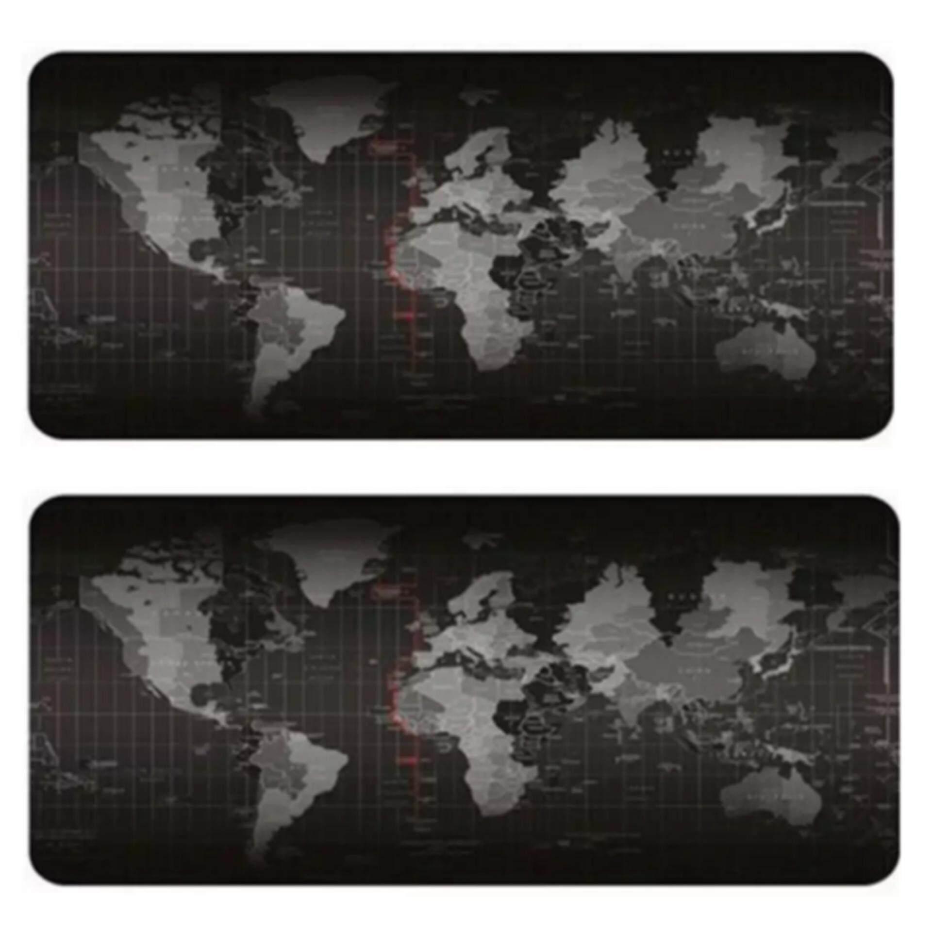 แผ่นรองเมาส์ ออกแบบแผนที่โลก Big Size. 80 X 30 Cm. Mouse Pad 2ชิ้น.