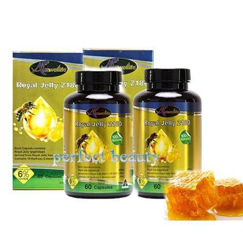 ซื้อ นมผึ้ง Royal Jelly 6 2180 Mg 60 เม็ด 2 กระปุก อาหารสุขภาพ เพื่อความอ่อนเยาว์ ใน กรุงเทพมหานคร