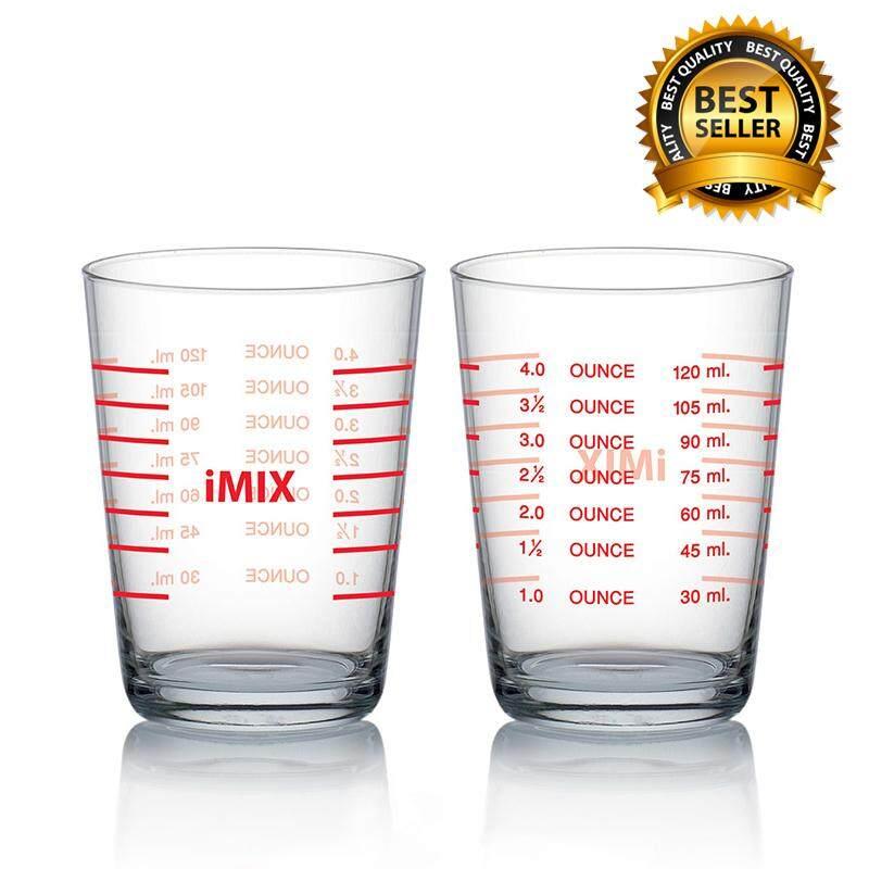 ราคา I Mix Measure Glass แก้วตวง 4 ออนซ์ 2 ใบ ใหม่