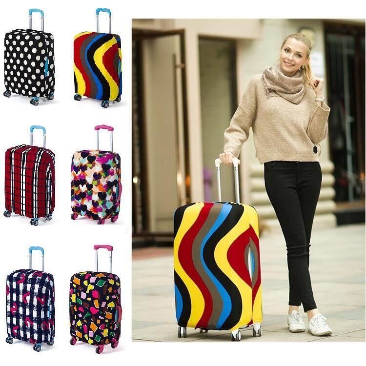 พร้อมส่ง Luggage Cover ผ้าคลุมกระเป๋าเดินทาง ผ้ายืด ลายสวย กันเป็นรอย กันฝุ่น ปลอกหุ้มกระเป๋าเดินทางล้อลาก สีสวย ใช้ดี.