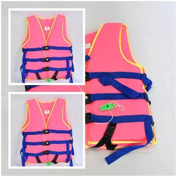 PPR แพ็คคู่ เสื้อชูชีพเด็กโต เสื้อชูชีพ Life jacket รับน้ำหนักได้ 45 Kg รอบอก 26-30 นิ้ว ยาว 18 นิ้ว #4 พร้อมนกหวีด