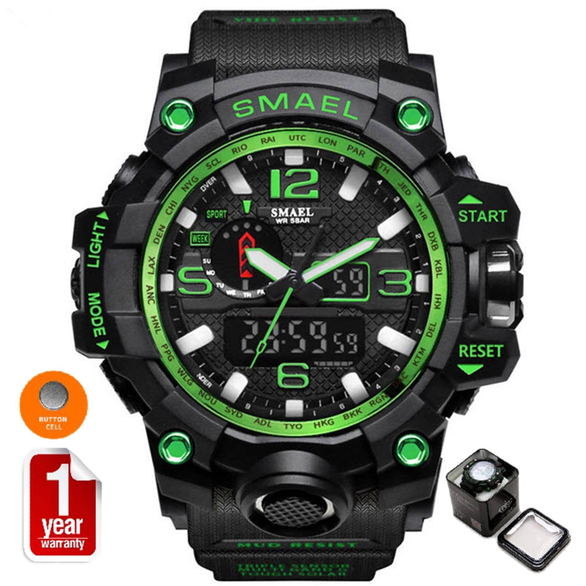 Smael นาฬิกาข้อมือผู้ชาย Sport Digital Led รุ่น Sm1545 Black Green สมุทรปราการ