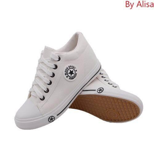 Alisa Shoes รองเท้าสปอร์ต 9107 White ใหม่ล่าสุด