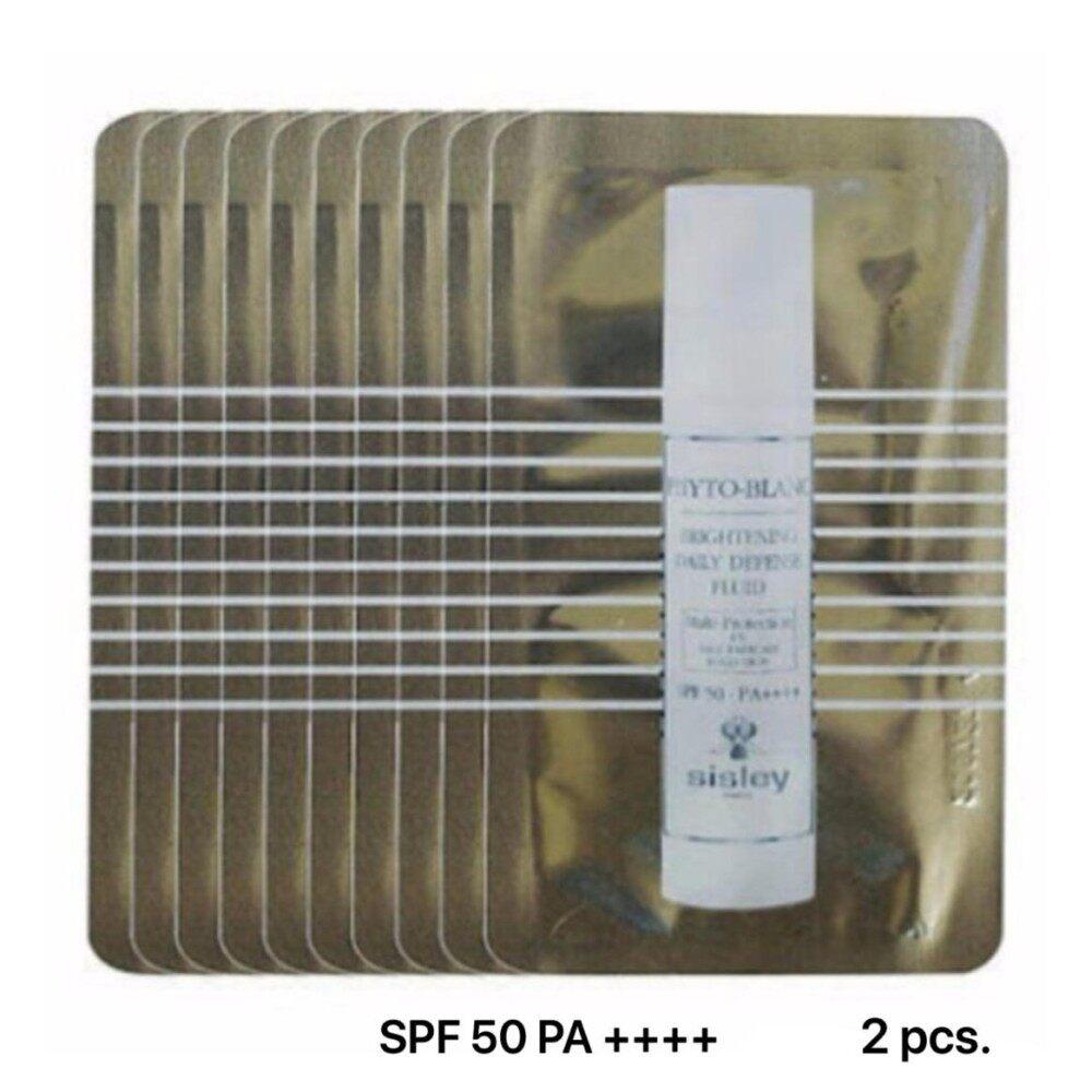 โปรโมชั่น Sisley Phyto Blanc Brightening Daily Defense Fluid Spf 50 Pa 4Ml 2Pcs บำรุงพร้อมปกป้องผิวให้ดูใสกระจ่างแบบ 2 In 1 Sisley ใหม่ล่าสุด