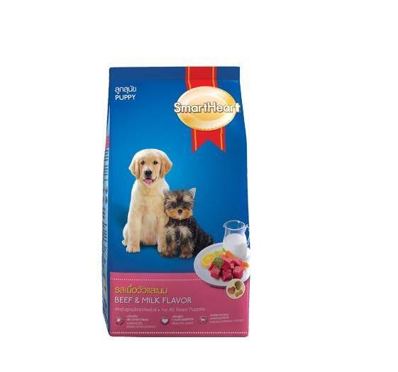 สมาร์ทฮาร์ท อาหารเม็ดสุนัข รสเนื้อวัวและนม สำหรับลูกสุนัขทุกสายพันธุ์ 500g.