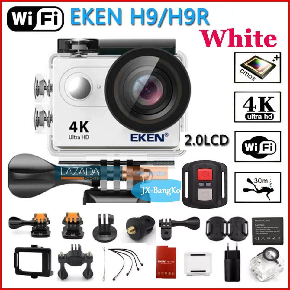 Sport Action Cam Camera Recorder กล้องกันน้ำ 4k Eken H9r กล้องวีดีโอ Action Camera แท้ 💯% ทุ่นลอยน้ำ 1 ชุด-สีขาว White.