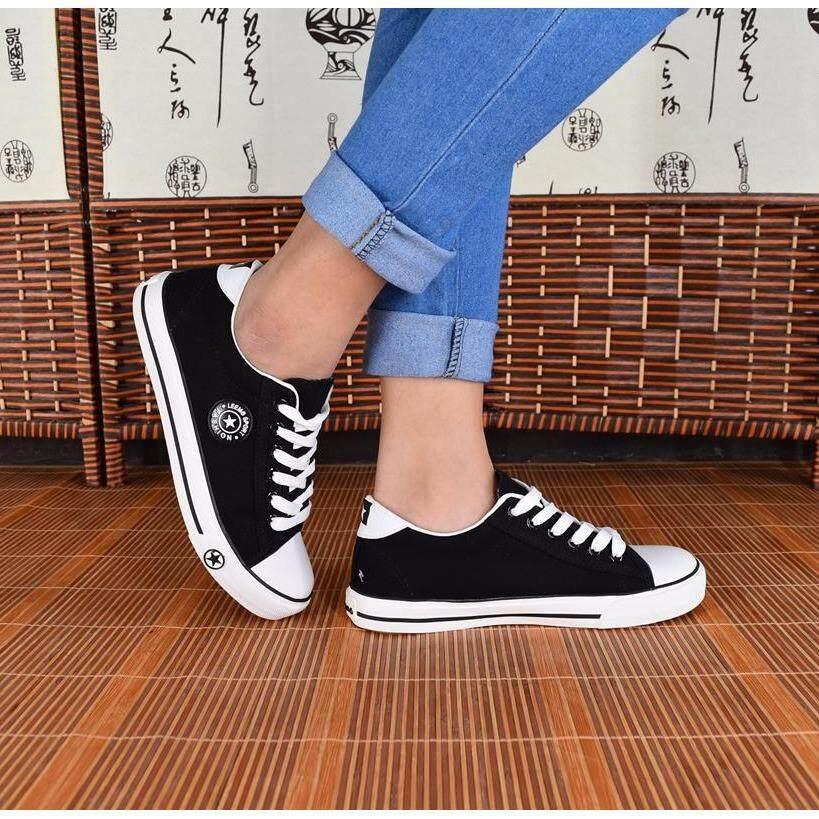 ราคา รองเท้าผ้าใบผู้หญิง รุ่น 9108 สีดำ Leemo ออนไลน์