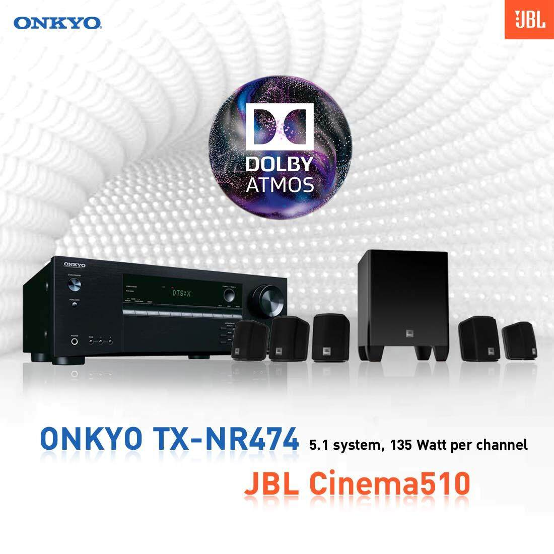 การใช้งาน  ราชบุรี ONKYO TXNR474 5.1-Channel Network A/V Receiver + JBL Cinema510 5.1 speaker system
