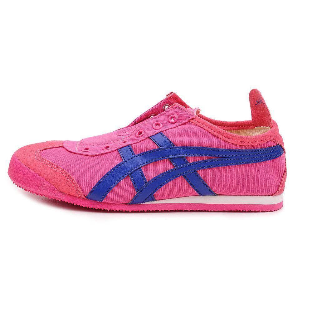 Onitsuka tiger รองเท้า ลำลอง หญิง สลิปออน โอนิซึกะ ไทเกอร์ Mexico 66 slip on Japan Pink Blue ของแท้100% ส่งไวด้วย kerry!!!