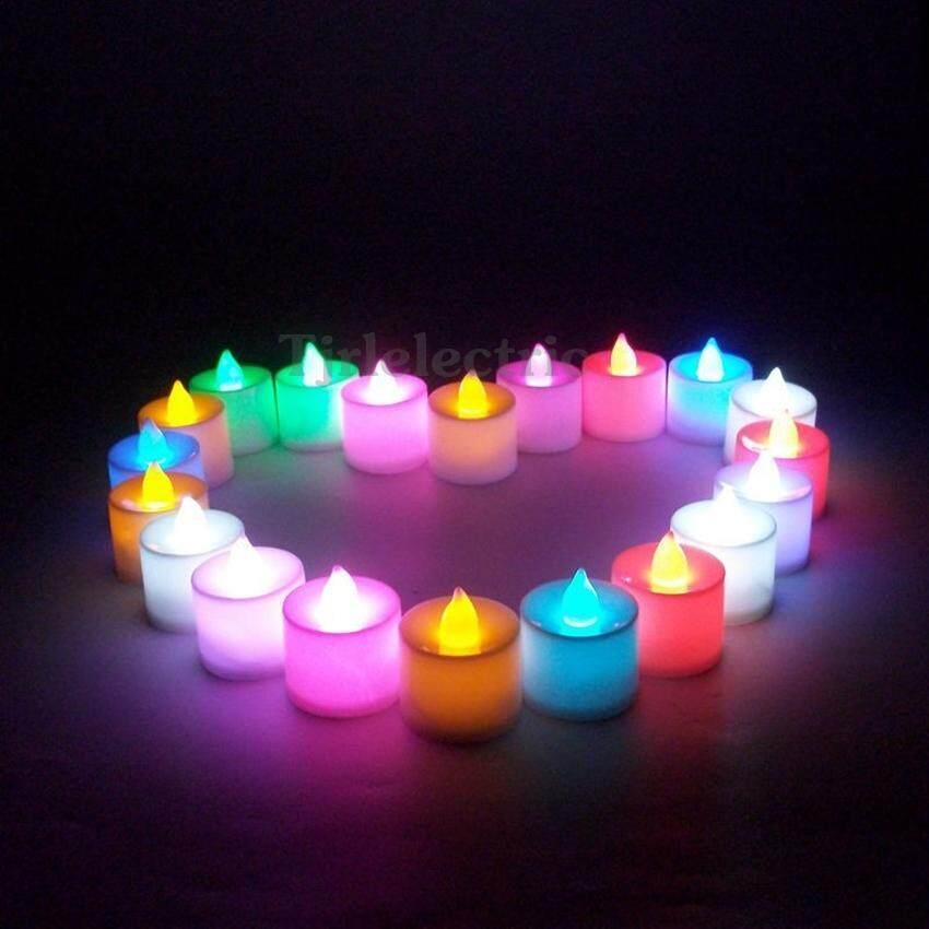 หลอด เทียนไข จำลองเปลวไฟ Led 1w แบบ นิ่ง สำหรับประดับ ตกแต่ง ศาลเจ้า หิ้งพระ งานวันเกิด งานครบรอบ งานเลี้ยง X 1 ชิ้น (เลือกสี ชมพู/เขียว/น้ำเงิน/เหลือง/ขาว/แดง).