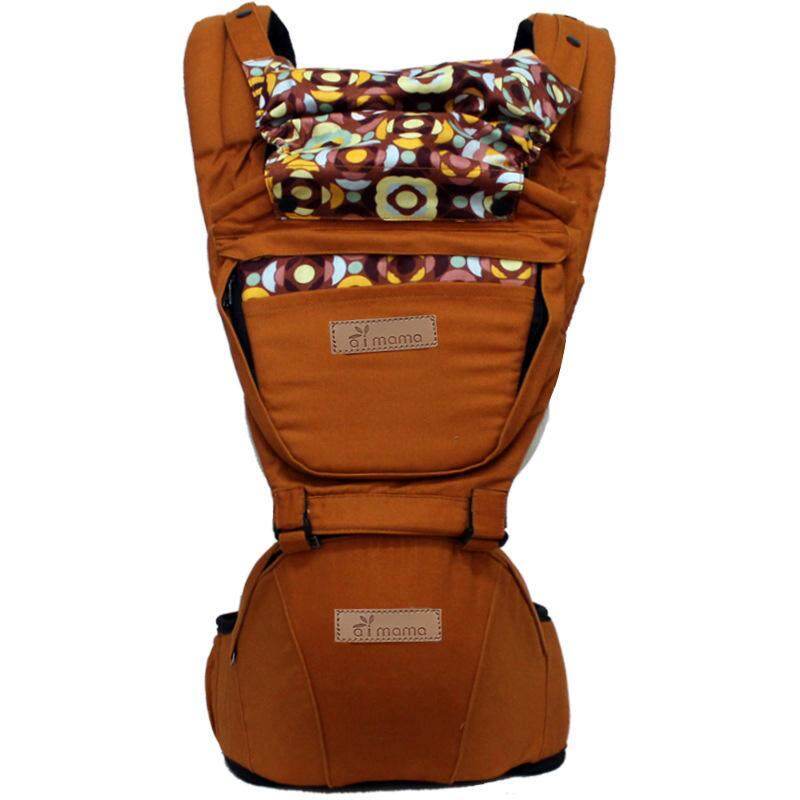 BEST เป้อุ้มเด็กนั่ง aimama Hip Seat 2 in 1 สะพายหน้าและสะพายหลังได้ สไตล์เกาหลี Baby Shoulder & Hip Seat Carrier Korea Design BB0057