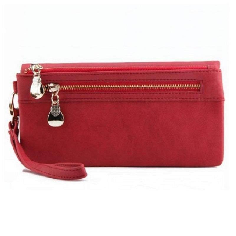 ส่วนลด กระเป๋าสตางค์สุภาพสตรีหนังนิ่มซิปคู่ใบยาว กรุงเทพมหานคร