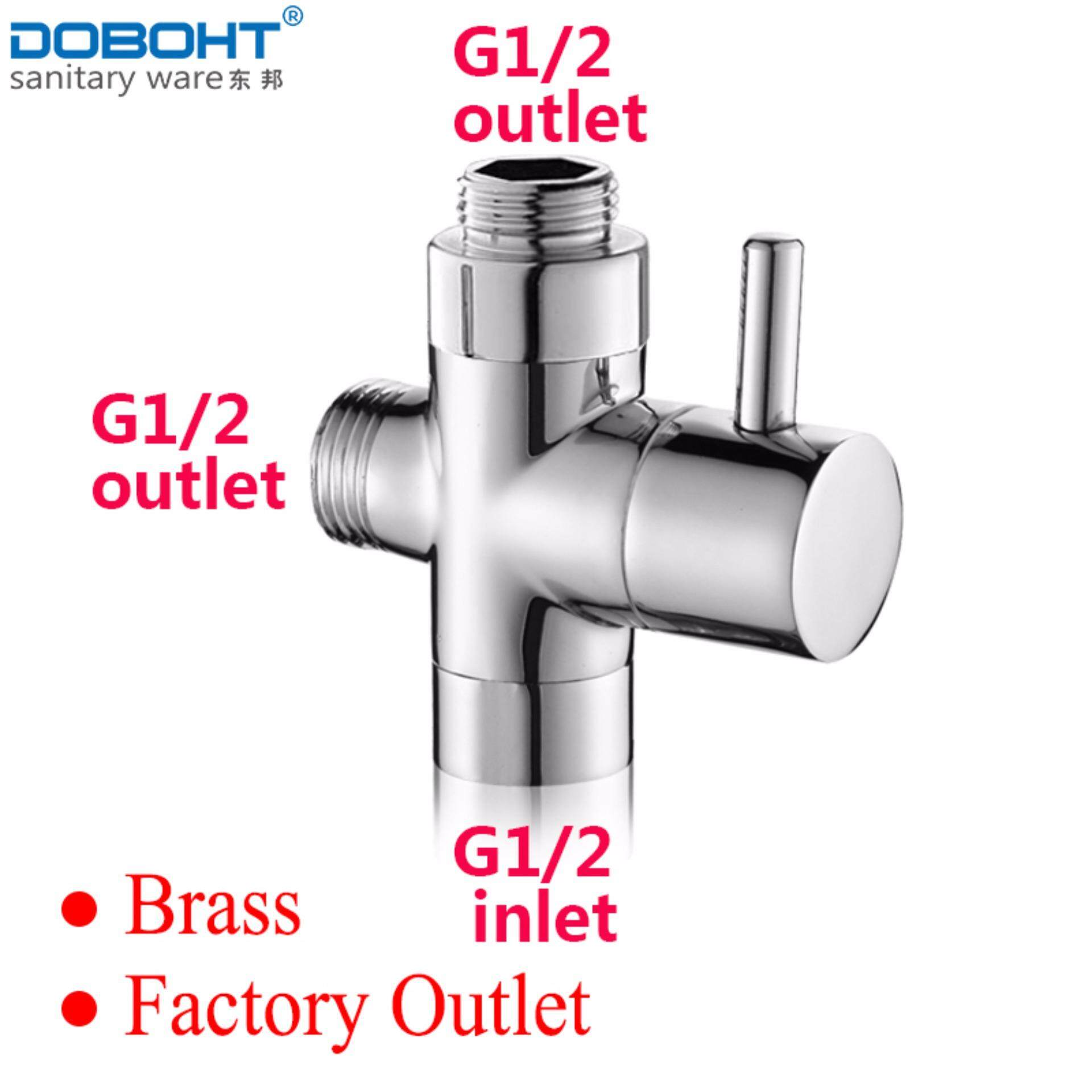 ทบทวน Doboht Chrome Brass 3 Way Adapter Valve G1 2 To G1 2 G1 2 Water Converter Bathroom Shower Set Converter Tub Shower Parts Intl