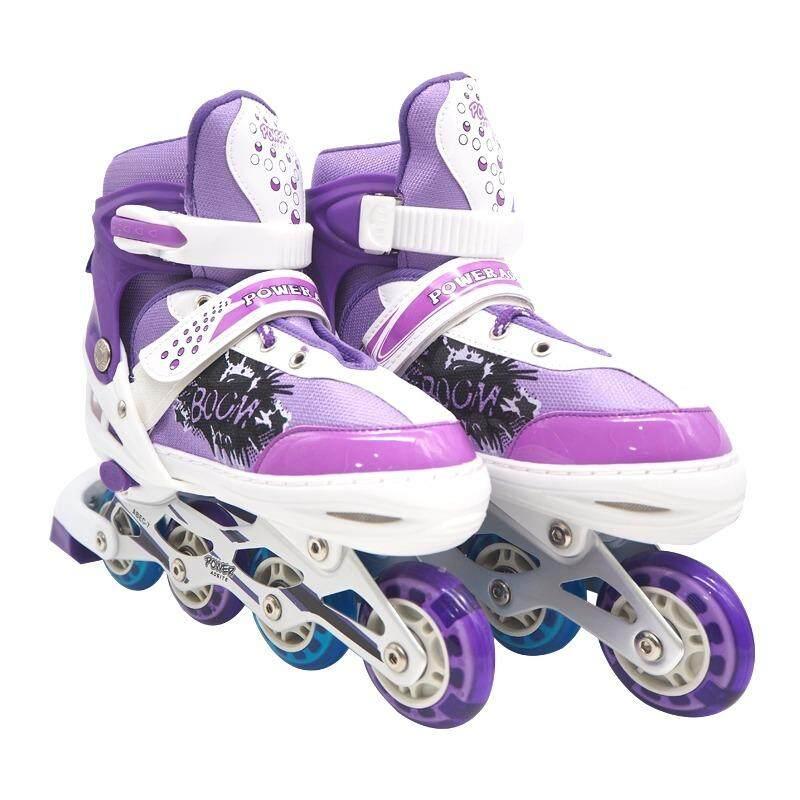 ราคา Power รองเท้าอินไลน์สเก็ต โรลเลอร์เบลด โรลเลอร์สเก็ต สเก็ต Size L Purple ใหม่