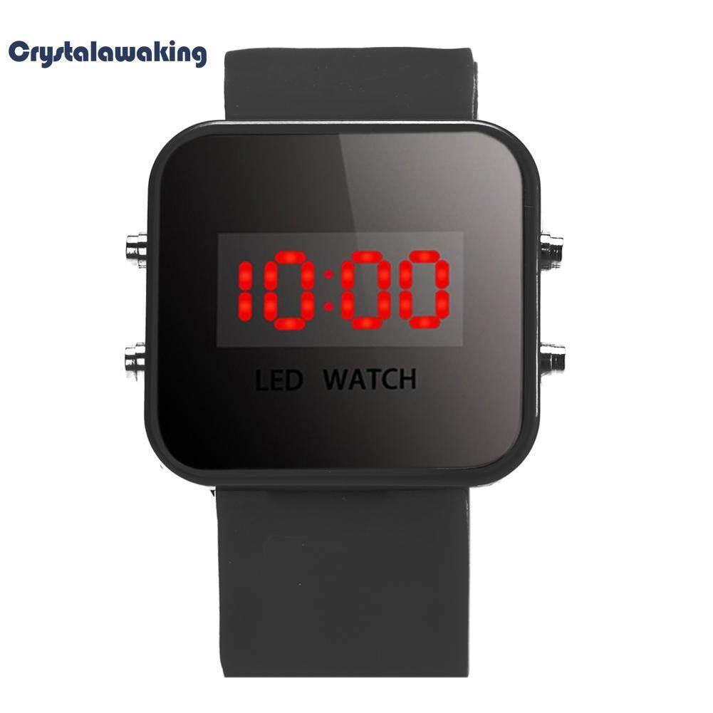 เด็กซิลิโคน LED นาฬิกาดิจิตอลนาฬิกาสปอร์ตนาฬิกา (สีดำ)