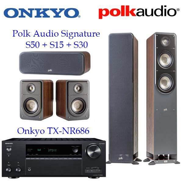 การใช้งาน  สระบุรี Onkyo TX-NR686 + Polk Audio Signature S50 S15 S30