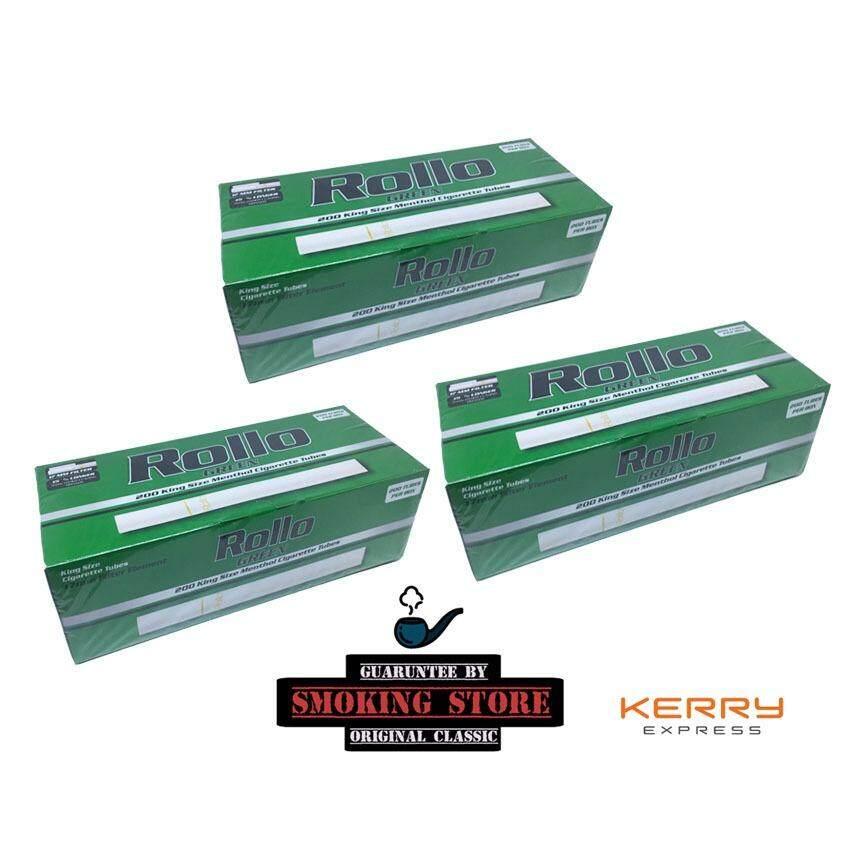 ซื้อ ก้นกรองบุหรี่ Roller เขียวสูตรเย็น รุ่น จุ 200 มวน ใหม่