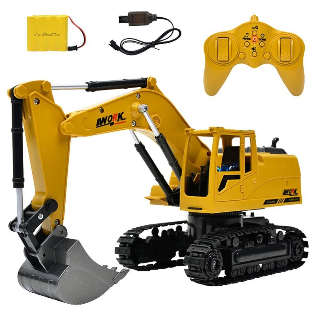 โปรโมชั่น รถแม็คโครบังคับ รถก่อสร้างของเล่น หัวเหล็กตักดินได้ Excavator Die Cast 8 Ch 2 4 Ghz ขนาด 1 24 ใน กรุงเทพมหานคร