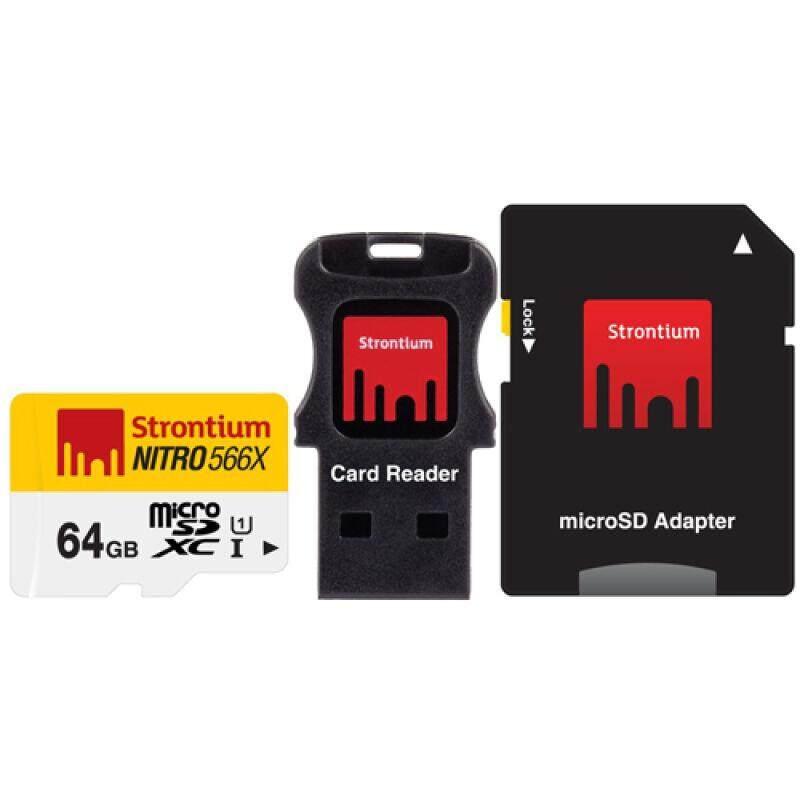 [Wevery]- Strontium NITRO UHS-1 MicroSD Class 10 64GB 566X Speed (85MB/s) micro sd card หน่วยความจำ เมมโมรี่การ์ด ส่ง Kerry เก็บปลายทางได้