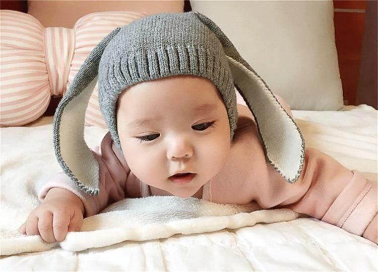 Ins เกาหลีขนสัตว์ชายและหญิงทารกการสร้างแบบจำลองหมวกหมวกทารก (0-6 ปี + สีเทา).