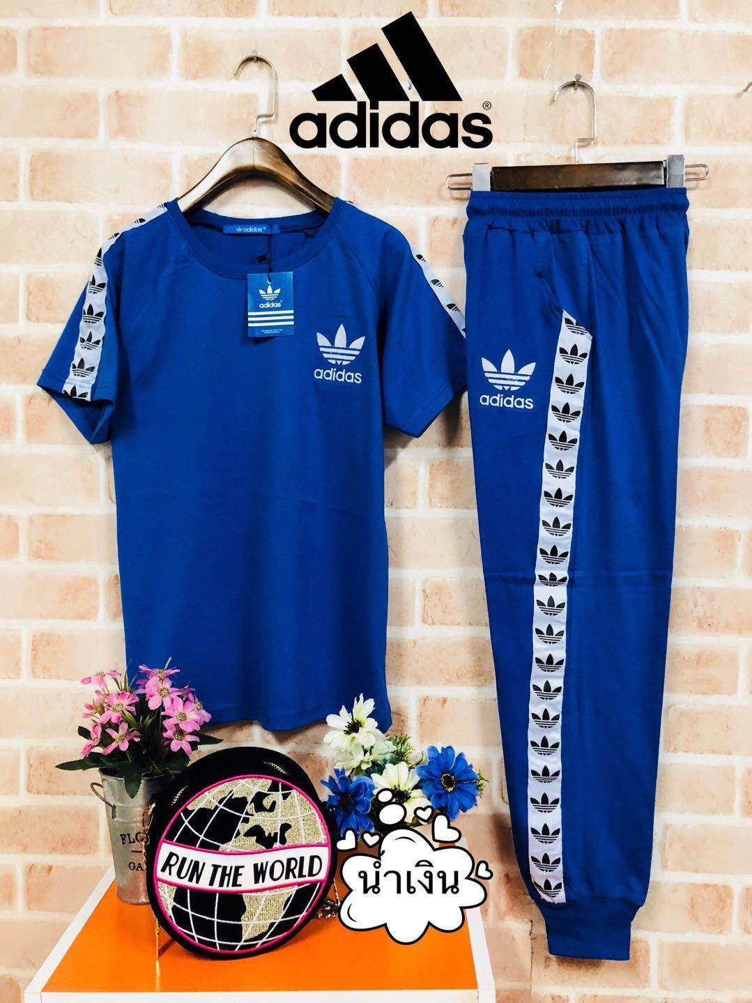 Adidas Womens Fashion Casual Comfortable Sportswear One Set.