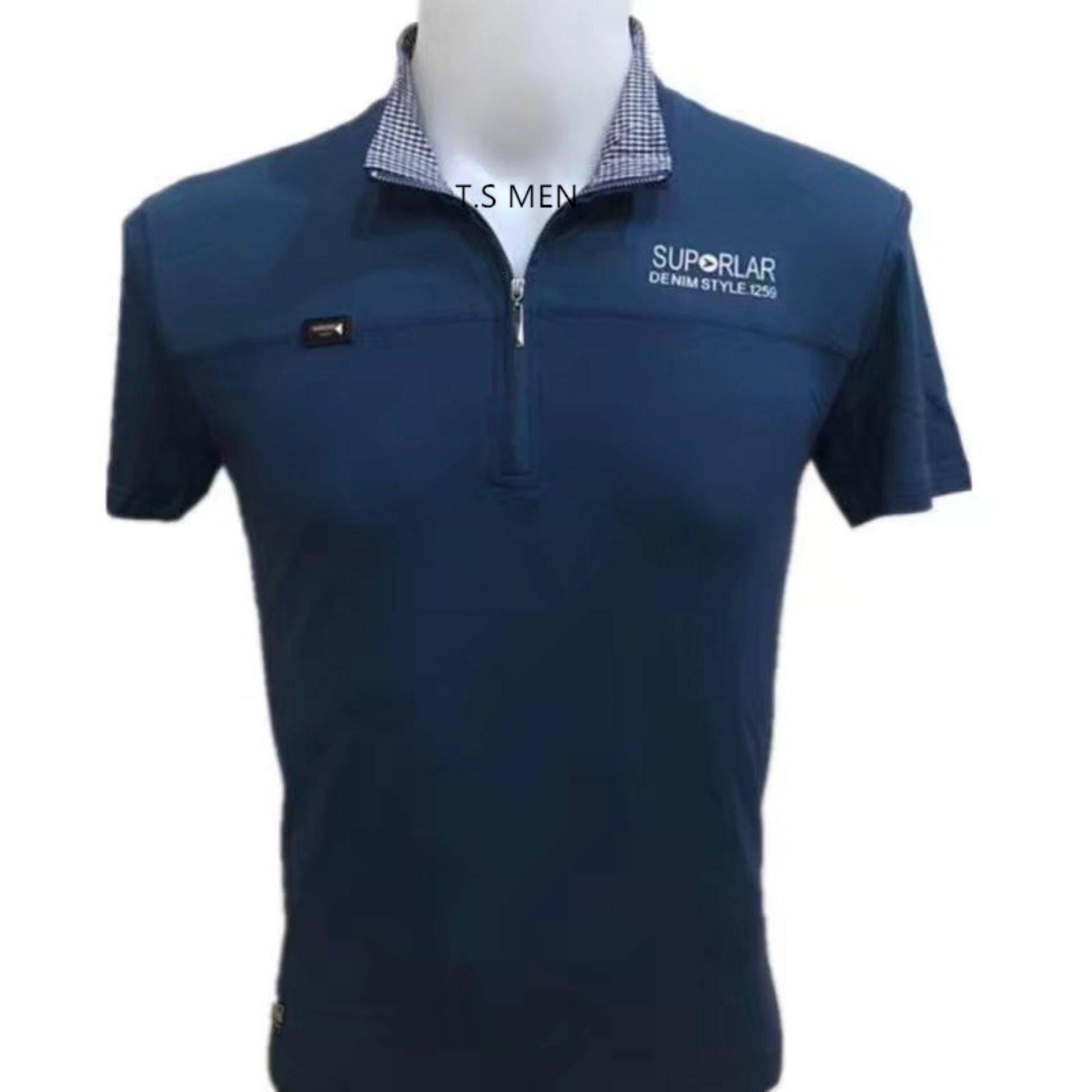 ขาย เสื้อยืดผู้ชายMen S T Shirtเสื้อยืดแฟชั่นผู้ชาย Polo Shirtเสื้อโปโล Oemgenuine ถูก