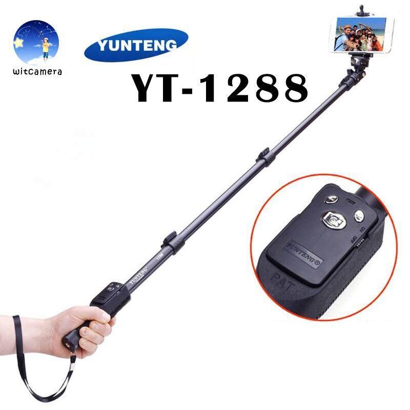 Yunteng Monopod ไม้เซลฟี่บลูทูธพร้อมปุ่มซูมเข้าออก รุ่น Yt-1288 (black).