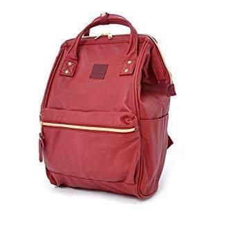 ฉะเชิงเทรา กระเป๋าเป้ Anello PU Backpack Wine Mini - Japan Imported 100%