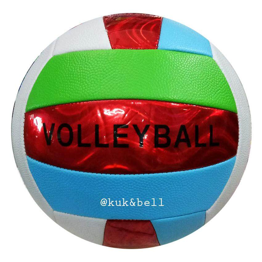 Patipan Toy บอลหนัง ลูกวอลเล่ย์บอล Volleyball แถมฟรี ตาข่ายใส่ลูกวอลเลย์บอล 799md.