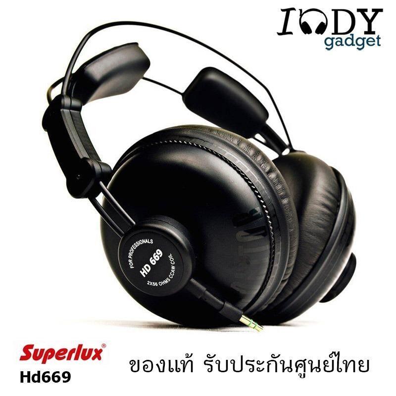 โปรโมชั่น Superlux Hd669 หูฟัง Studio Monitor Headphone Fullsize หูฟังสตูดิโอ มอนิเตอร์ รับประกันศูนย์ไทย Black ใน ไทย
