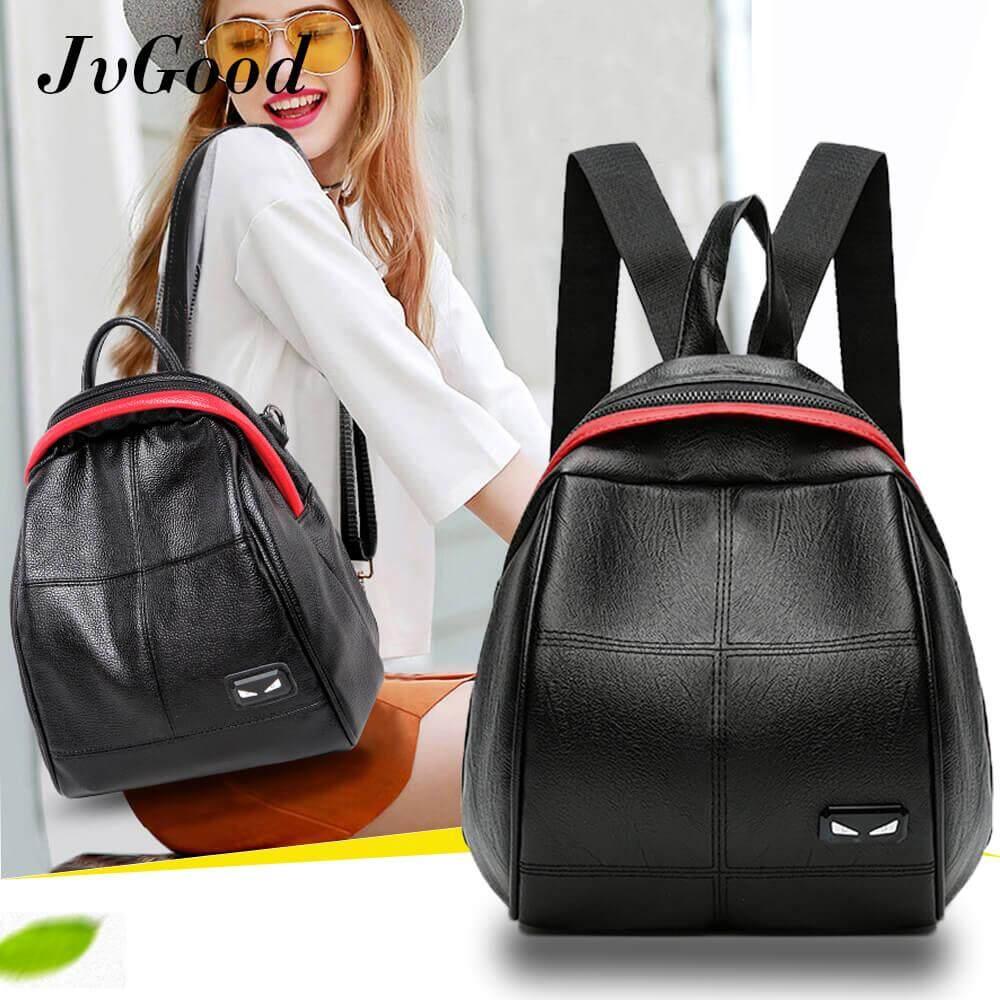 Jvgood Newest Leather Backpack Monster Fashion Ladies Shoulder Bag For Teenager Girls Female Backpack เป็นต้นฉบับ