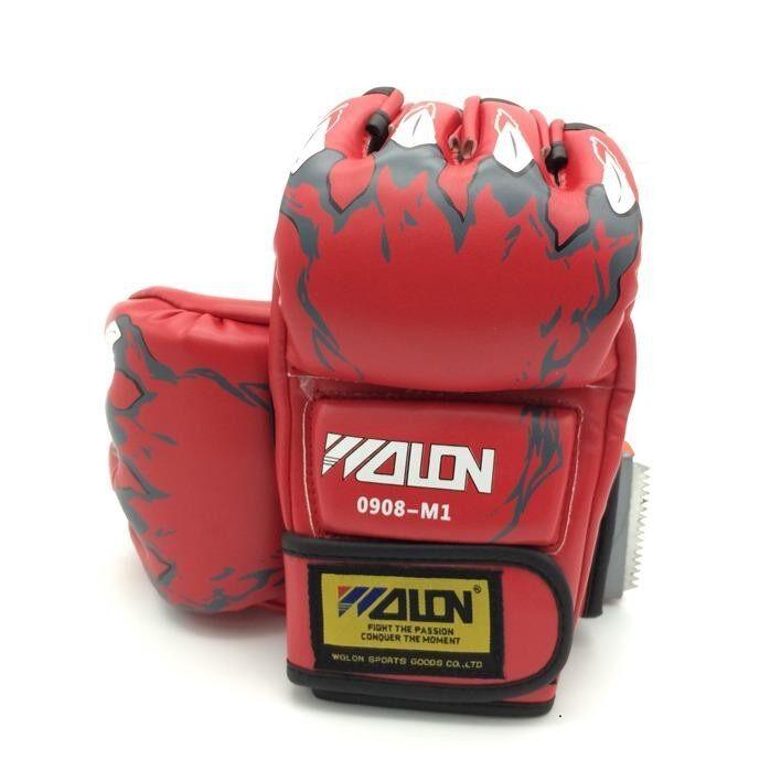 ราคา Health Boxing Gloves นวม Mma นวมชกมวย นวมต่อยมวย นวมซ้อมมวยแบบตัดปลายนิ้ว ถูก