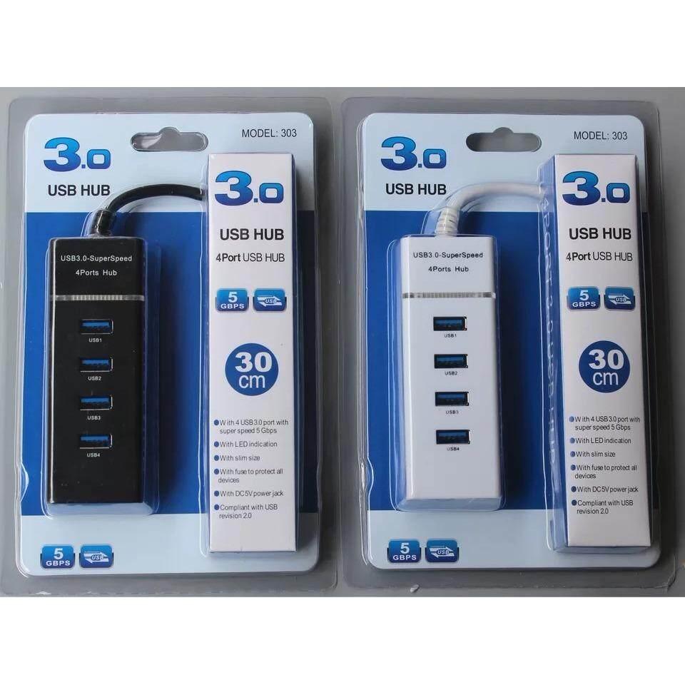 Usb Hub 3.0 5gbps 4 Ports Micro Usb 3.0 Hub Usb Splitter Adapter Super Speed High Quality Computer Peripherals White/black.