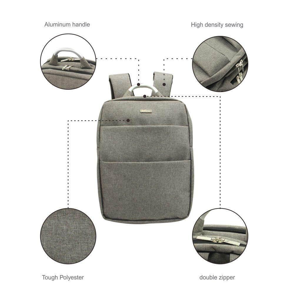 ส่วนลด สินค้า 15 6 Notebook Backpack With Usb Recharging Port Grey