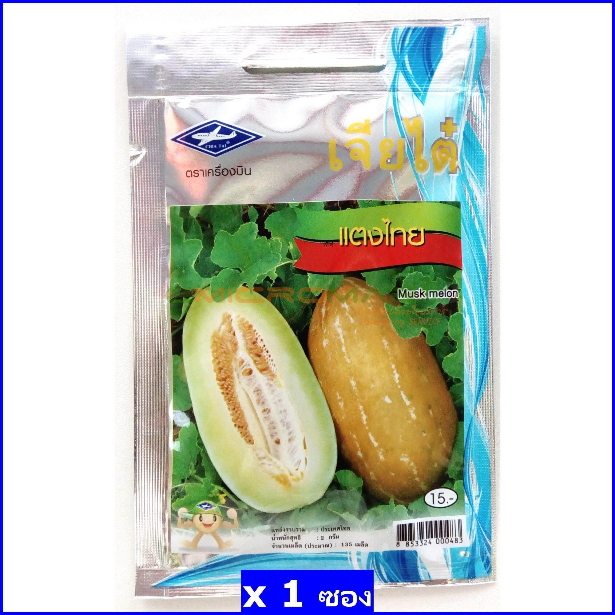 เจียไต๋ ตราเครื่องบิน แตงไทย (Musk Melon) เมล็ดพันธุ์ เมล็ดพันธุ์ผัก เมล็ดพันธุ์พืช ผักสวนครัว