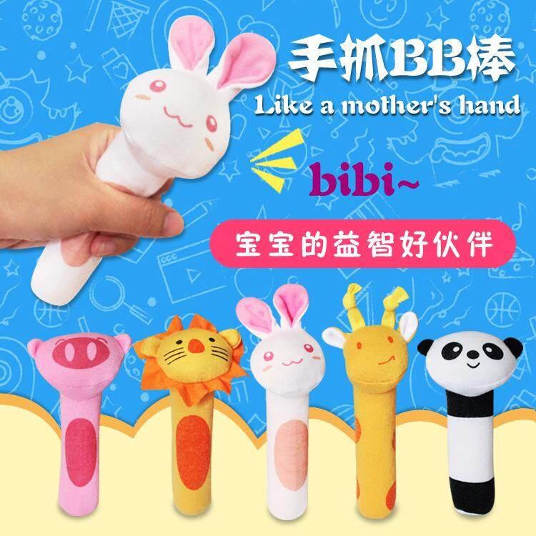 ตุ๊กตา ตุ๊กตามือจับ ของเล่นเด็ก โมบายตุ๊กตามือจับ มีเสียง ลายสัตว์ต่างๆ By Mommy Mall.