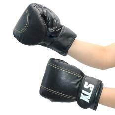 Kinglion Sport แบคชกสีดำ แบ็คชกมวย แบ็กชกกระสอบทรายนวมชกมวย นวมมวย นวมต่อยมวย นวมซ้อมมวยไทย BLACKPU Leather Muay Thai Kick Boxing Gloves