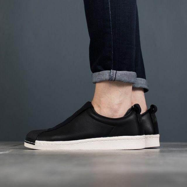 สุดยอดสินค้า!! ADIDAS Shoes รองเท้าผ้าใบ อาดิดาส Slip on BW LEATHER (Black) ++ของแท้100% พร้อมส่ง ส่งด่วน kerry++